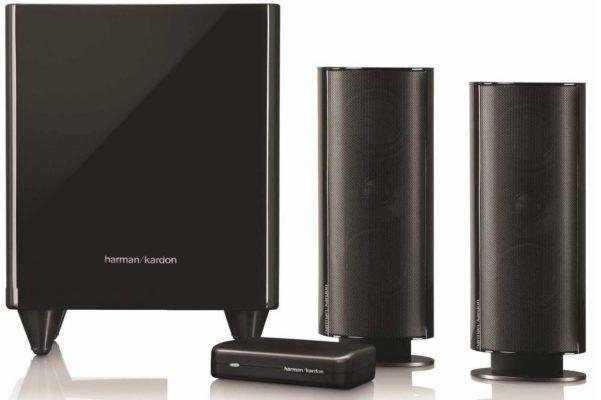 harman kardon hkts 200bq 2 1 anlage mit aktiv subwoofer. Black Bedroom Furniture Sets. Home Design Ideas
