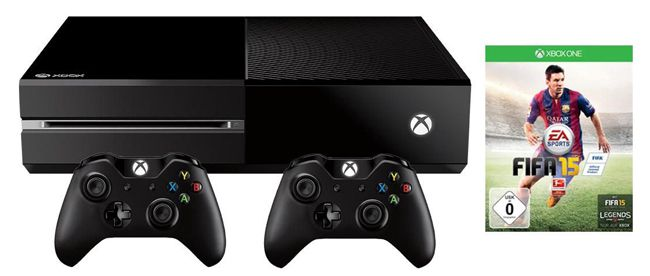 xbox one ohne kinect 500gb fifa 15 2 controller. Black Bedroom Furniture Sets. Home Design Ideas