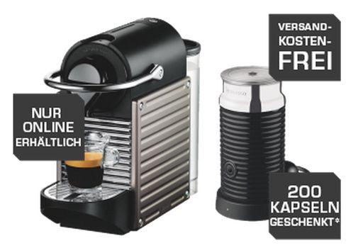 krups nespresso pixie xn301t aeroccino3 milchaufsch umer 200 kapseln f r 129. Black Bedroom Furniture Sets. Home Design Ideas
