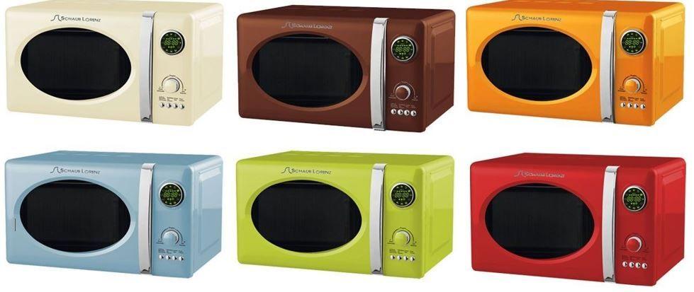 schaub lorenz 800 watt mikrowelle im retro design mit 1000 watt grill f r 69 90. Black Bedroom Furniture Sets. Home Design Ideas