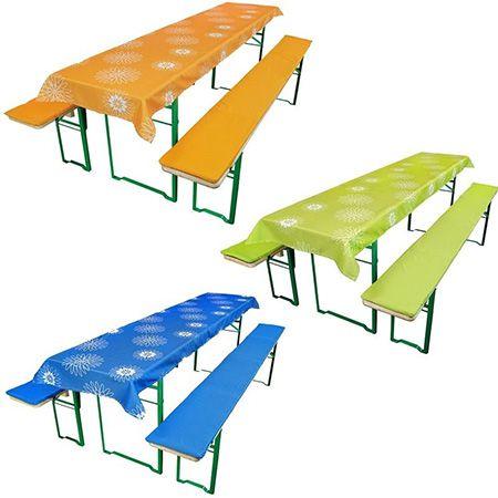 hussen f r bierzeltgarnitur f r 15 99 3 teilig verschiedene farben f r 50er oder 70er. Black Bedroom Furniture Sets. Home Design Ideas