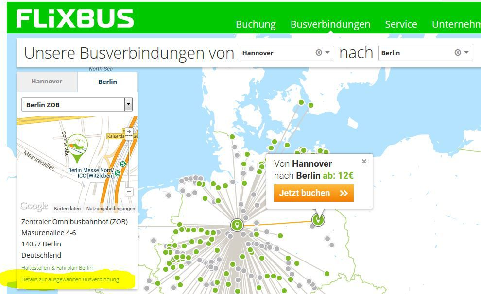 neu flixbus meinfernbus mit last minutes tickets. Black Bedroom Furniture Sets. Home Design Ideas