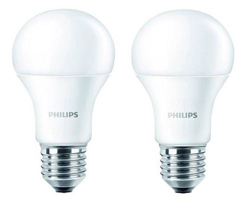 philips 2 x led leuchten e27 9w warmwei f r 9 95 oder 4 st ck f r 16 90. Black Bedroom Furniture Sets. Home Design Ideas