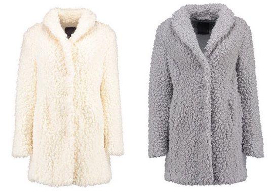 s oliver premium damen mantel in teddyqualit t f r 125. Black Bedroom Furniture Sets. Home Design Ideas