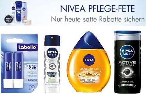 300 nivea pflegeprodukte labello florena hansaplast 8x4 bis zu 35. Black Bedroom Furniture Sets. Home Design Ideas