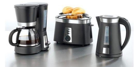 Gourmetmaxx 3 tlg set aus kaffeemaschine wasserkocher for Gunstige kaffeemaschine