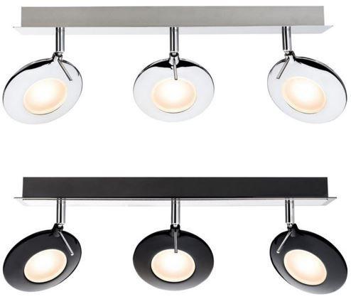 paulmann orb led balken spotlights in 2 farben f r je 29 95. Black Bedroom Furniture Sets. Home Design Ideas