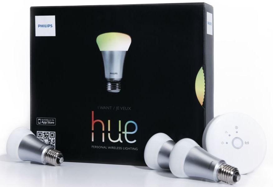 philips hue connected bulb starter pack 3 x 8 5w mit bridge f r 119 statt 148. Black Bedroom Furniture Sets. Home Design Ideas