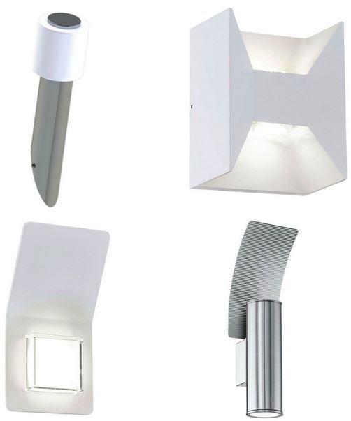 eglo led wandlampen f r innen und aussen je 14 90. Black Bedroom Furniture Sets. Home Design Ideas