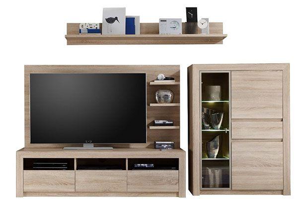 ausverkauft trendteam wohnwand kombination sevilla f r 180 46 statt 555. Black Bedroom Furniture Sets. Home Design Ideas
