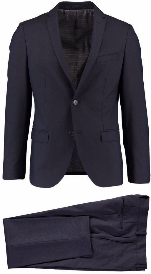 s oliver napoli premium herren anzug blau slim fit f r. Black Bedroom Furniture Sets. Home Design Ideas