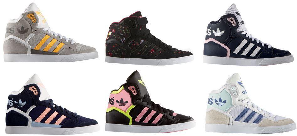 adidas originals extaball damen high sneaker f r je 49 90 statt 65. Black Bedroom Furniture Sets. Home Design Ideas
