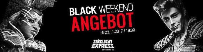 knaller starlight express tickets im black weekend sale. Black Bedroom Furniture Sets. Home Design Ideas