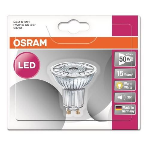 osram led star par16 5er pack led strahler gu10 wie 50w f r 19 99. Black Bedroom Furniture Sets. Home Design Ideas