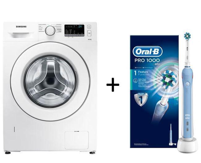 samsung ww80j34d0kw waschmaschine oral b pro 1000 ezahnb rste statt 572 f r nur 329. Black Bedroom Furniture Sets. Home Design Ideas