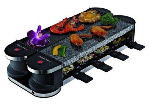 suntec flex 8 rac 8069 raclette set mit steinplatte f r 39 99 statt 65. Black Bedroom Furniture Sets. Home Design Ideas