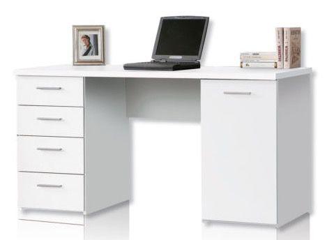 roller net schreibtisch in matt wei f r 79 99 statt 100. Black Bedroom Furniture Sets. Home Design Ideas