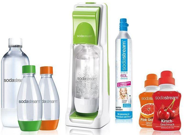 sodastream cool gr ner wasserspender mit 4 flaschen und sirup f r 49 99. Black Bedroom Furniture Sets. Home Design Ideas