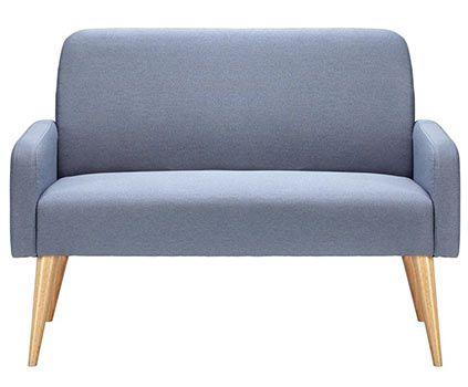 sofa zweisitzer in grau blau mireille f r 98 95. Black Bedroom Furniture Sets. Home Design Ideas