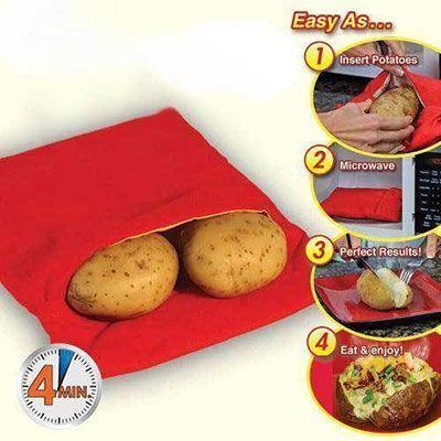 potato express mit der mikrowelle kartoffeln kochen f r. Black Bedroom Furniture Sets. Home Design Ideas