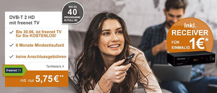 freenet tv dvb t2 premium hd receiver 6 monate laufzeit f r 5 75 mtl bis 30. Black Bedroom Furniture Sets. Home Design Ideas