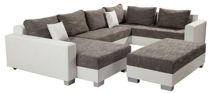 wohnlandschaft mit hocker f r nur 399. Black Bedroom Furniture Sets. Home Design Ideas