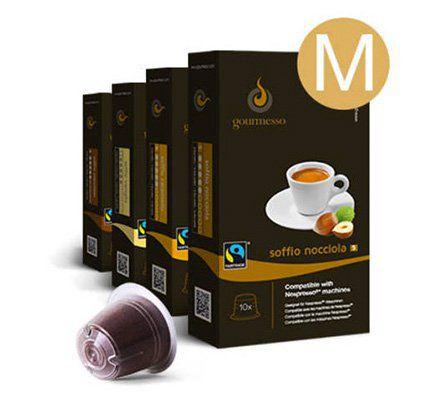 180 kaffee kapseln in der gourmesso flavour box f r 36 95 statt 45. Black Bedroom Furniture Sets. Home Design Ideas