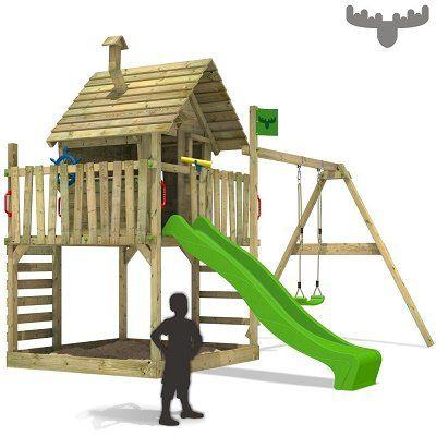 fatmoose wackyworld mega xxl stelzenhaus mit schaukel und rutsche f r 599 95 statt 690. Black Bedroom Furniture Sets. Home Design Ideas