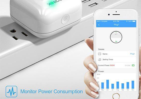 koogeek smarthome wifi steckdose mit steuerung via app siri apple homekit f r 23 29. Black Bedroom Furniture Sets. Home Design Ideas