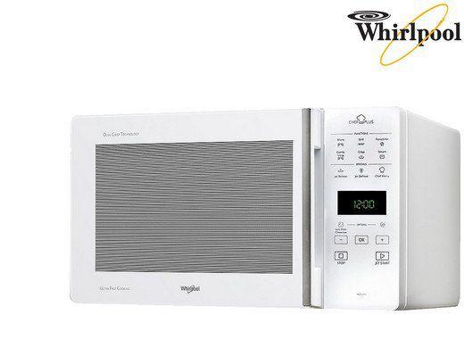 whirlpool mikrowelle mcp349wh mit grill und hei luftfunktion und 25 liter garraum f r 149 94. Black Bedroom Furniture Sets. Home Design Ideas