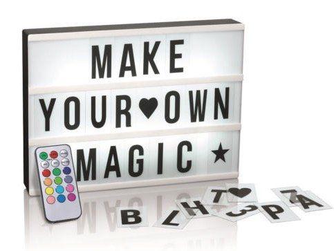 easymaxx led leuchtkasten mit 173 buchstaben symbolen f r 14 99. Black Bedroom Furniture Sets. Home Design Ideas