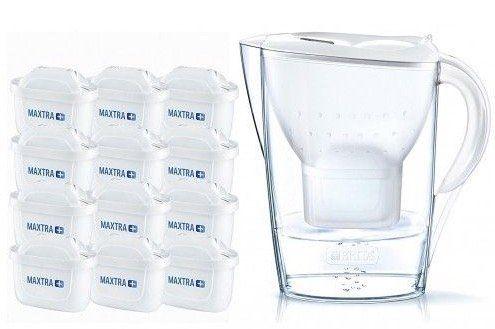 Brita Marella Wasserfilter inkl. 12 Maxtra+ Kartuschen für