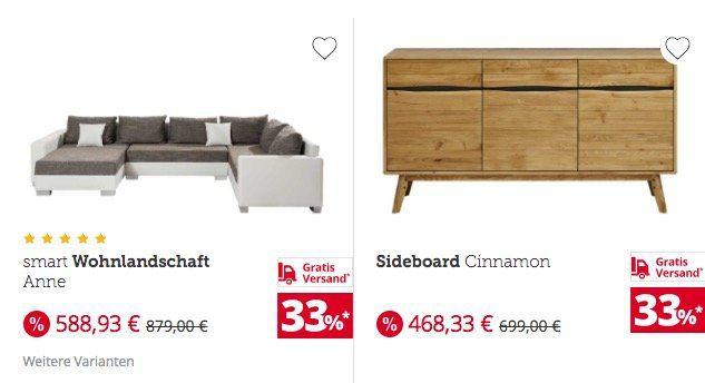 33 rabatt auf fast alle m bel k chen und matratzen bis mitternacht gratis versand bei m bel. Black Bedroom Furniture Sets. Home Design Ideas