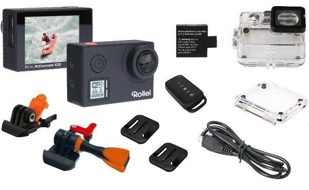 rollei 630 action cam 4k inkl fernbedienung und wlan f r. Black Bedroom Furniture Sets. Home Design Ideas