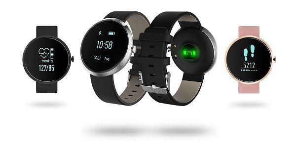 sinji health smartwatch mit blutdruckmessung in silber. Black Bedroom Furniture Sets. Home Design Ideas