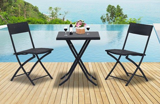 outsunny polyrattan balkon set f r 53 99 statt 63. Black Bedroom Furniture Sets. Home Design Ideas