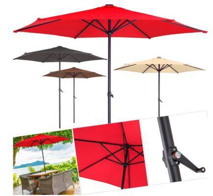 kesser sonnenschirm alu 270cm mit handkurbel f r 29 80. Black Bedroom Furniture Sets. Home Design Ideas