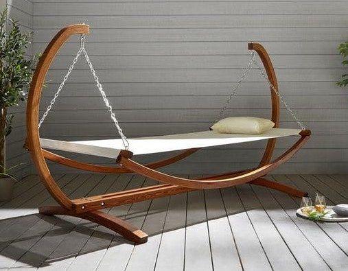 garten relaxliege sydney mit holzgestell f r nur 74 25 statt 99. Black Bedroom Furniture Sets. Home Design Ideas