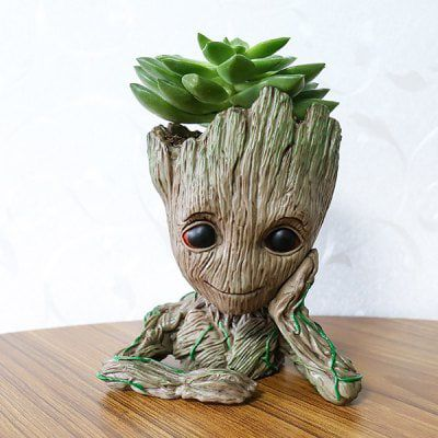 Guardians of the galaxy baby groot figur als blumentopf for Figur mit blumentopf