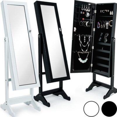 spiegel stand schrank mit innen f chern f r schmuck co je 59 99. Black Bedroom Furniture Sets. Home Design Ideas