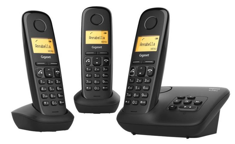 gigaset a270a trio 3 dect schnurlos telefone mit ab ab. Black Bedroom Furniture Sets. Home Design Ideas