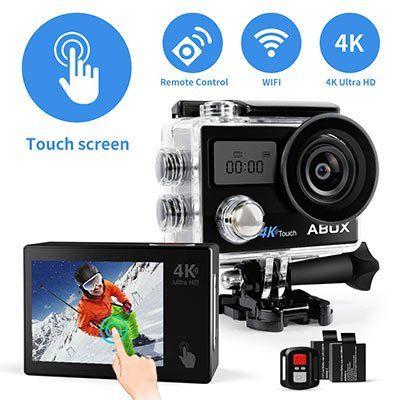 abox 4k action cam mit touchscreen fernbedienung f r 24. Black Bedroom Furniture Sets. Home Design Ideas