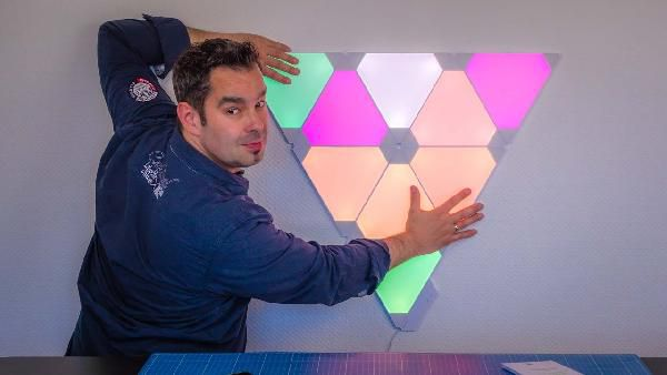 15er Nanoleaf Light Panels Smarter Kit + Aurora Rhythm für 233€ (statt 299€)