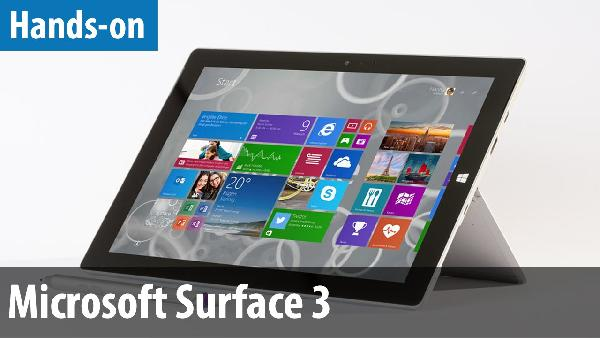 Microsoft Surface 3   10,8 Tablet 64GB Windows 10 inkl. Type Cover für 560,95€