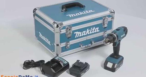 Ladegerät Koffer Akku Schlagbohrschrauber 18V Akku G-Serie Makita HP457DW