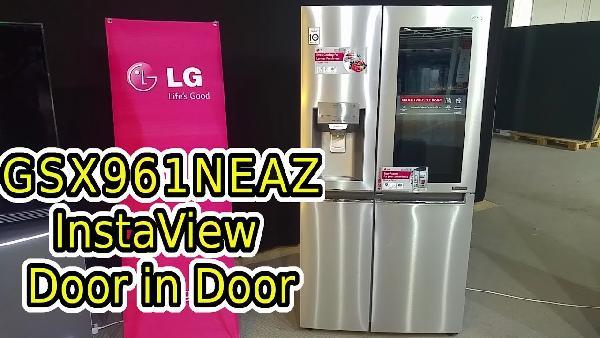 Amerikanischer Kühlschrank Quad : Lg gsi neaz instaview sidy by side kühlschrank mit eek a für