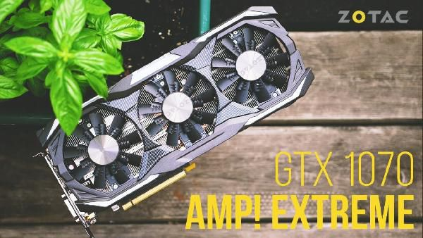 ZOTAC GeForce GTX 1070 AMP! Extreme Core 8GB Grafikkarte + Fortnite Counterattack Set für 279€ (statt 428€)